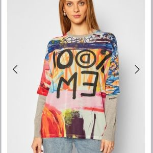 Desigual Arty Jumper 'Hamilton' Sweater Size L NWT
